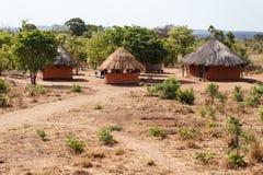 赞比亚- 2013年10月14日:当地人民去日常生活 免版税库存照片