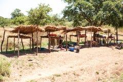 赞比亚- 2013年10月14日:当地人民去日常生活 库存照片
