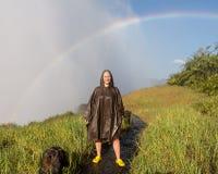 赞比西河的维多利亚瀑布 库存照片