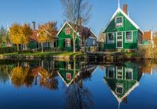 赞瑟斯汉斯,Netherland美妙的村庄  免版税库存照片