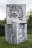 赞美工作设计在苏联在Muzeon公园, alumi 图库摄影