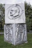 赞美工作设计在苏联在Muzeon公园, alumin 库存照片