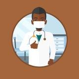 给赞许传染媒介例证的医生 免版税库存图片