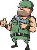 给赞许的动画片战士 库存图片