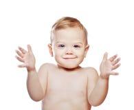 赞许的男婴 免版税库存图片
