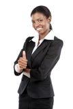 给赞许的非裔美国人的女实业家 库存图片