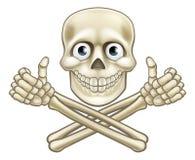 给赞许的骷髅图 免版税库存照片