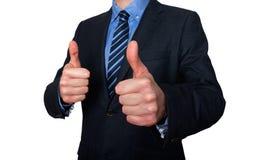 给赞许-储蓄图象的商人 免版税库存图片