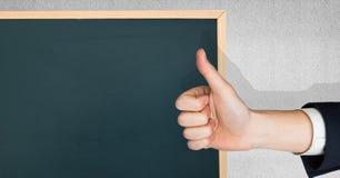 赞许绿色黑板 免版税库存图片