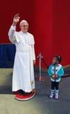 赞赏的教皇弗朗西斯 库存照片