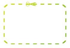 赠券绿色凭证 免版税库存照片