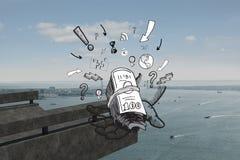 赢利和经济乱画的综合图象 免版税库存图片