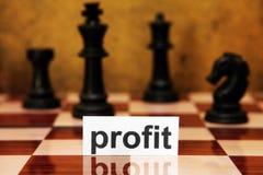赢利战略概念 免版税库存图片