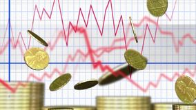 赢利股市金钱金子 向量例证