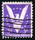 赢取战争美国邮票 免版税库存图片
