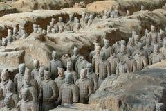 赤土陶器军队 库存照片