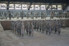 赤土陶器军队 免版税库存图片
