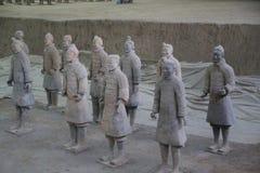 赤土陶器军队 免版税库存照片