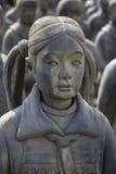 赤土陶器女儿在迭戈・里韦拉Anahuacalli博物馆1 免版税图库摄影