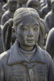 赤土陶器女儿在迭戈・里韦拉Anahuacalli博物馆1 库存照片