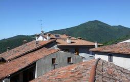 赤土陶器屋顶 库存图片
