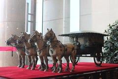 赤土陶器战士和马 免版税图库摄影