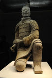 他赤土陶器战士和马 免版税库存照片