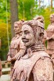 赤土陶器战士复制品在克拉斯诺达尔 免版税库存图片