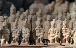 赤土陶器战士的古老中国文化遗产 免版税库存照片