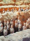 赤土陶器战士,西安,中国 免版税库存照片