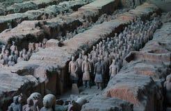 赤土陶器战士 图库摄影