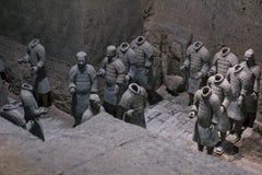 赤土陶器战士 库存照片