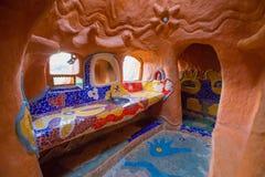 赤土陶器房子Villa de莱瓦哥伦比亚的卫生间 库存照片
