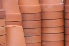 赤土陶器花盆 库存照片