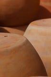 赤土陶器黏土陶瓷罐 免版税库存照片