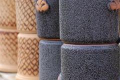 赤土陶器黏土陶瓷罐 图库摄影