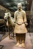 赤土陶器Warriorsï ¼ Œin西安,中国的世界的最著名的雕象 库存图片