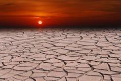 赤热或接近的全球性变暖 库存照片