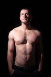 赤裸上身的英俊的人画象  库存照片