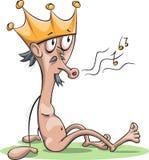 赤裸国王 库存例证