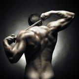 赤裸的运动员 免版税库存图片