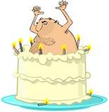 赤裸蛋糕跳的人 库存例证