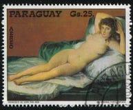 赤裸Maja弗朗西斯科de Goya 库存照片