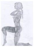 赤裸s影子妇女 库存照片