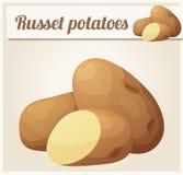 赤褐色土豆 详细的传染媒介象 皇族释放例证