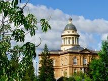 赤褐色普莱瑟县法院大楼,赤褐色,加利福尼亚 库存照片