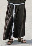 赤足与凉鞋和男修道士的习性 库存图片