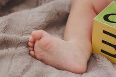 赤足婴孩 库存照片