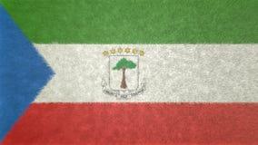 赤道几内亚的旗子的原始的3D图象 向量例证