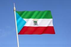 赤道几内亚的旗子 图库摄影